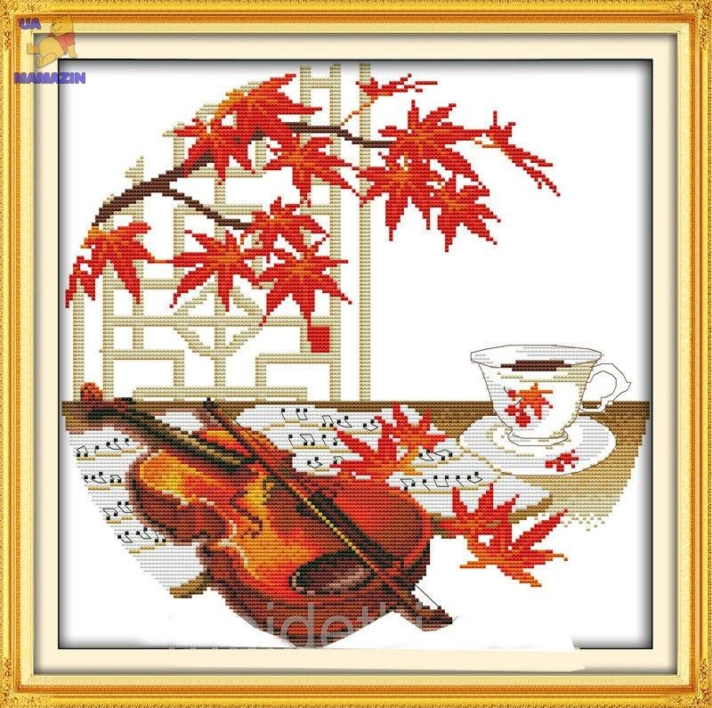 Вышивка крестом Осенняя музыка