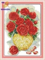 Вышивка крестом Букет роз 1