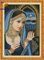 Вышивка крестиком Индийская красавица 1