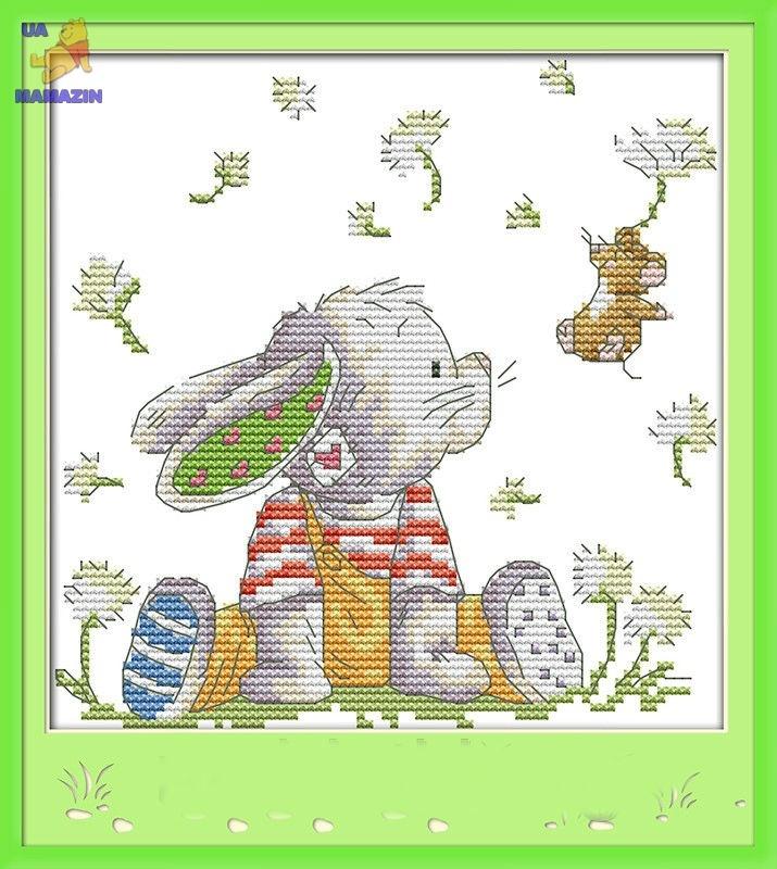 Набор для вышивки крестом Белый кролик 1