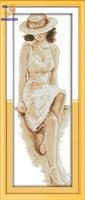 Вышивка крестиком Загадочная леди