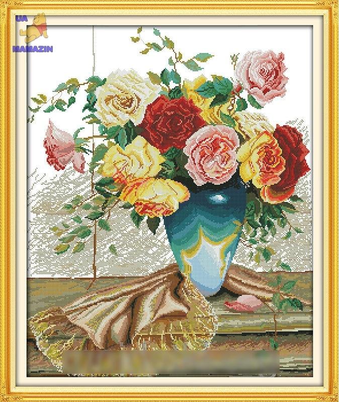 Вышивка крестом Букет роз 2