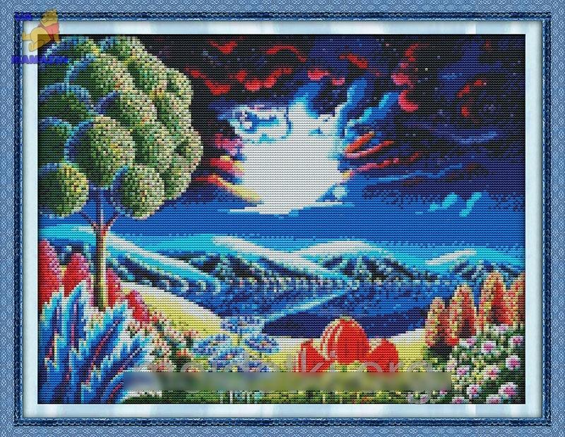 Вышивка крестом Фантастический пейзаж 2