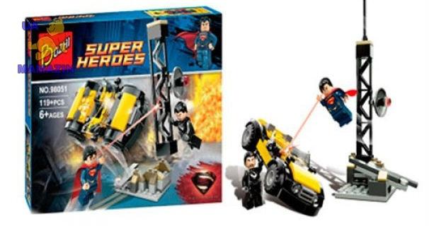 """Конструктор """"Супергерои. Супермен и Генерал Зод"""""""