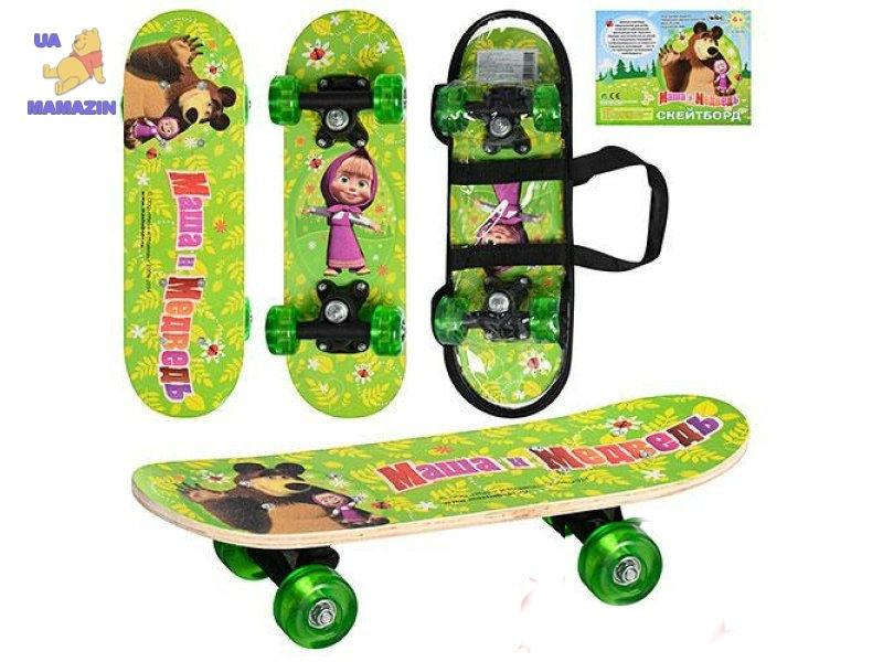 """Скейт детский  лицензия """"Маша и медведь"""""""