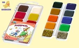 """Акварельные краски """"Сказочный мир"""", 20 цветов"""