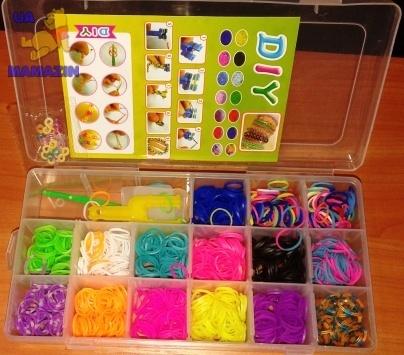 Комплект резинок для браслетов в чемодане 2000шт