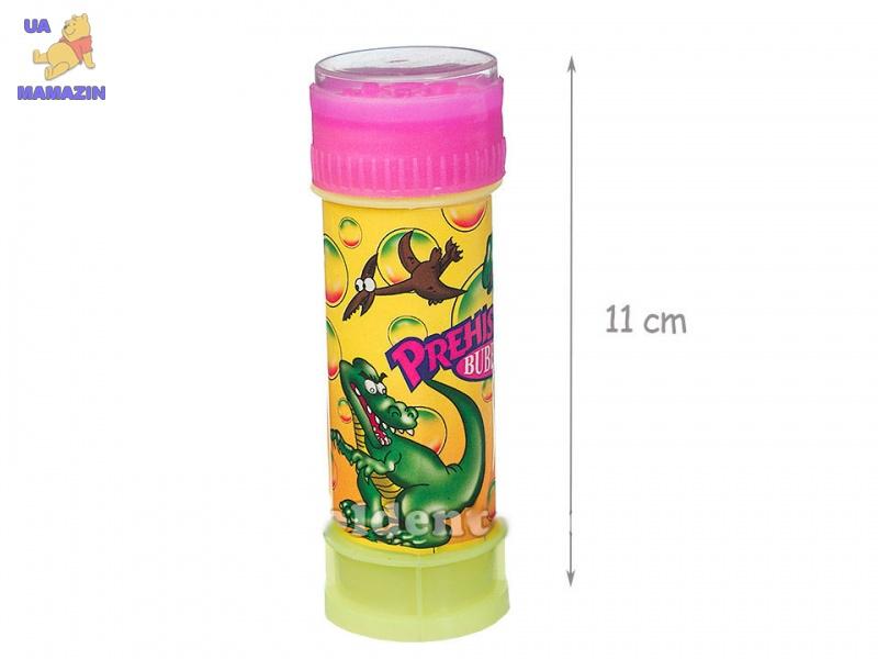 Мыльные пузыри Динозавры с игрой 10,5 см 12 шт. в наборе