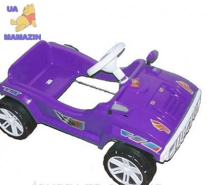 Машинка для катания педальная фиолетовая