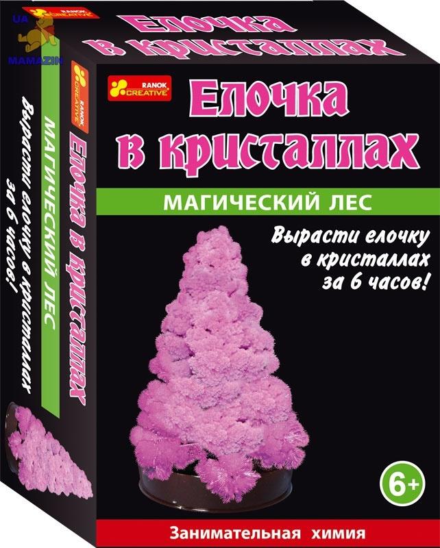 "Набор мини - исследований ""Ёлочка в кристаллах (розовая)"""