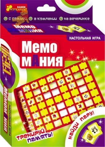 """Настольная игра """"Мемо Мания"""", ТМ Ранок"""