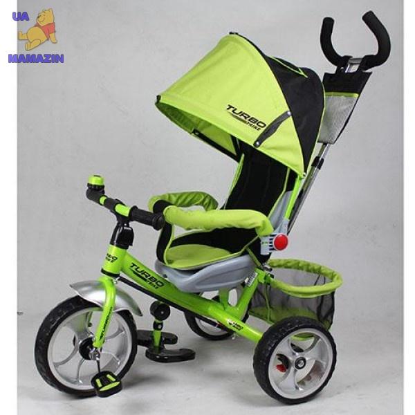 Велосипед детский EVA Foam, 3-х колесный, зелено-черный