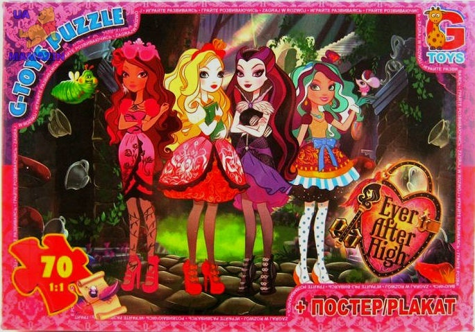 "Пазли   ""Ever After High"" (Вища школа), 70 ел."
