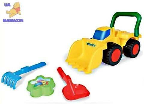 Бульдозер с игрушками для песка