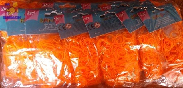 Резиночки для плетения (600 рез.), оранжевые