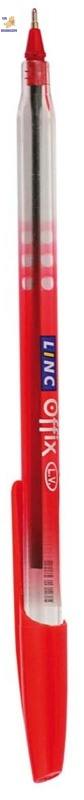 "Ручка шарикова маслянная ""Offix""  красная 0,7 мм ""LINC"""