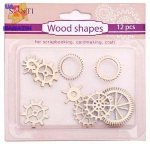 Набор форм деревянных «Механизмы», 12 шт
