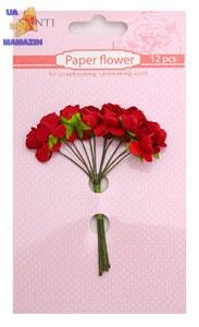 Набор цветов бумажных красных, 12 шт