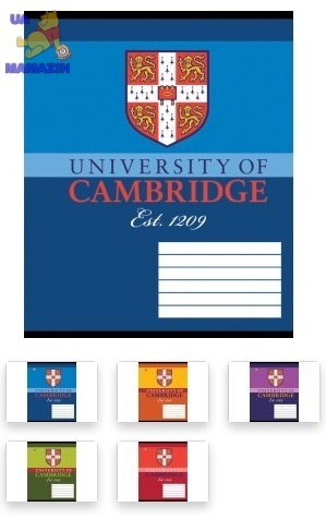 Тетрадь А5/24 клетка  CAMBRIDGE-15