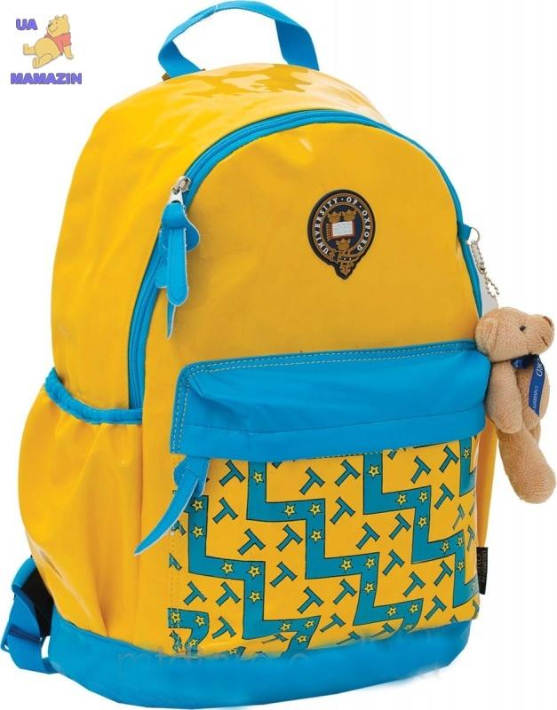"""Рюкзак подростковый """"Oxford"""" жёлто-голубой"""