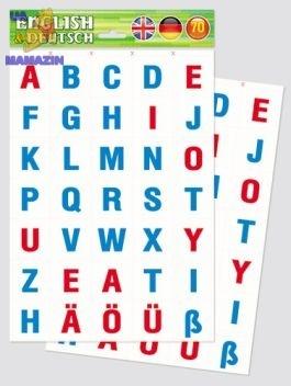 Разрезные карточки Азбука англ/нем