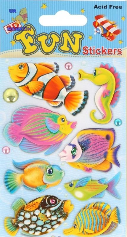 """Объемные наклейки  """"Рыбки"""""""