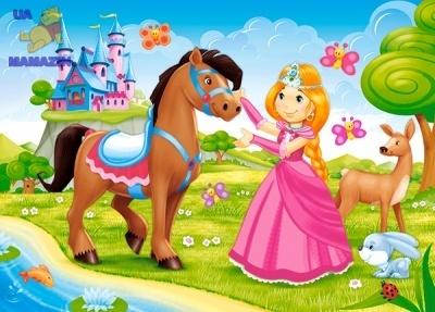 """Пазл """"Принцесса с лошадкой"""""""
