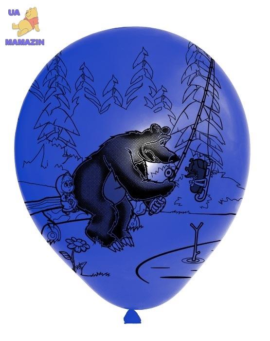 """Шарики Стандарт 12"""", """"Маша и медведь"""" 50шт"""
