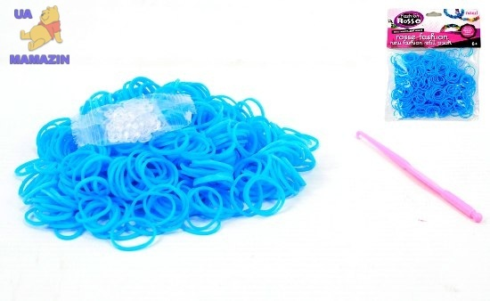 Резиночки для плетения (550 рез.), цвет голубой