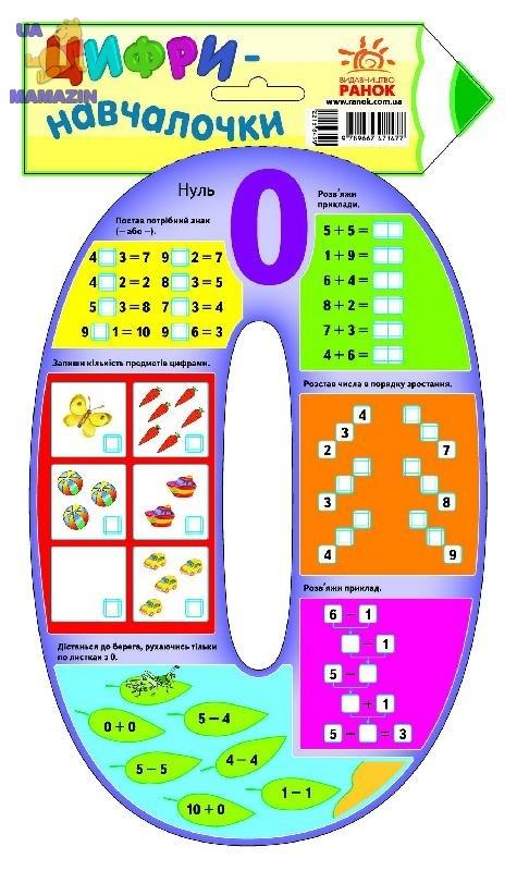 Цифри-навчалочки : Цифра 0 (у)