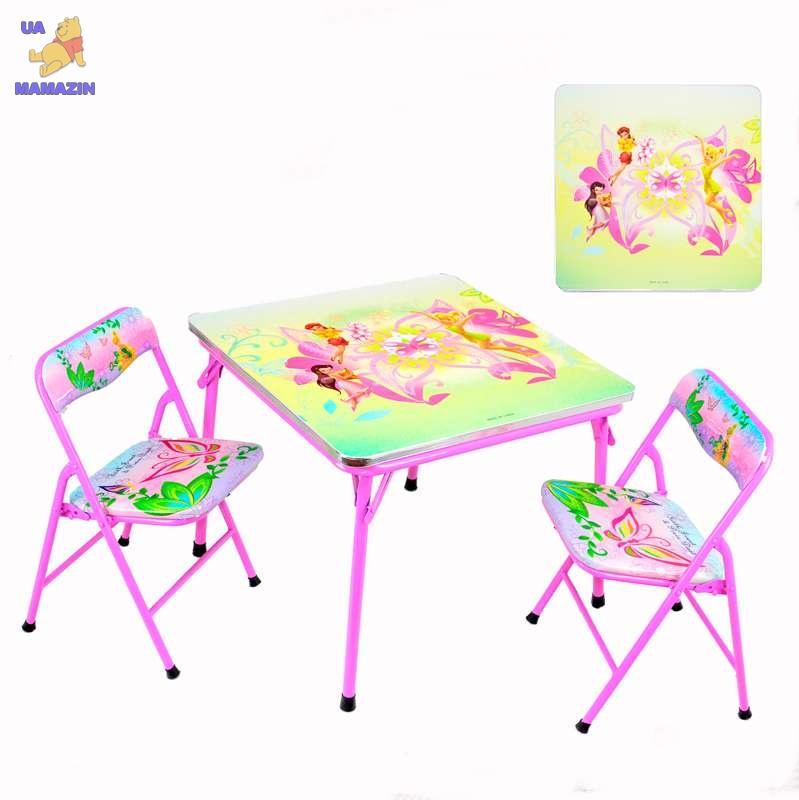 Столик с двумя стульчиками складной