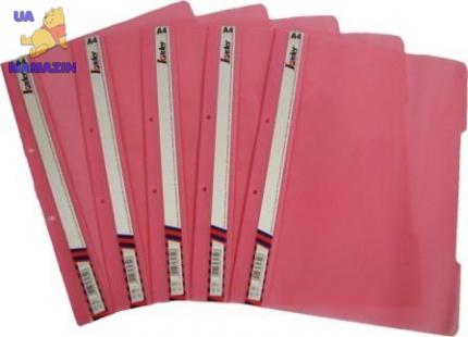 Скоросшиватель пластиковый А4, розовый