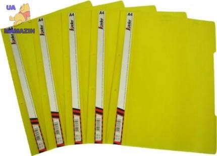 Скоросшиватель пластиковый А4, желтый
