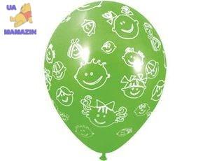 """Шар воздушный 12"""" (30см) с рисунком """"Детские улыбки"""""""