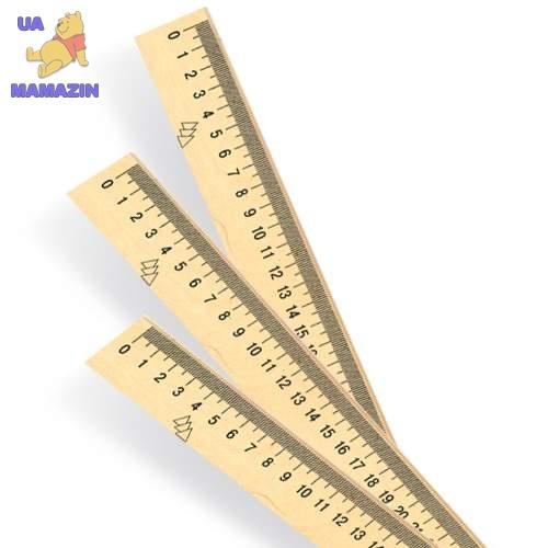 Линейка деревянная (шелкография). 30 см