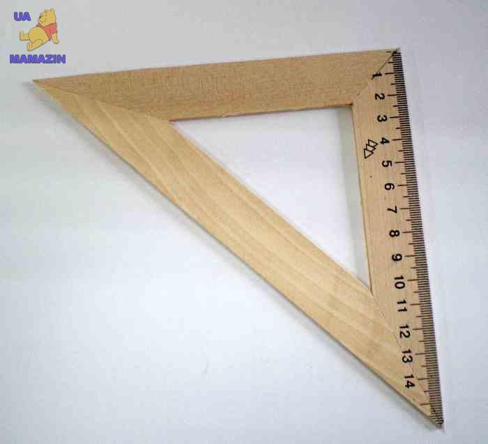 Треугольник деревянный 16 см (45х45 см)