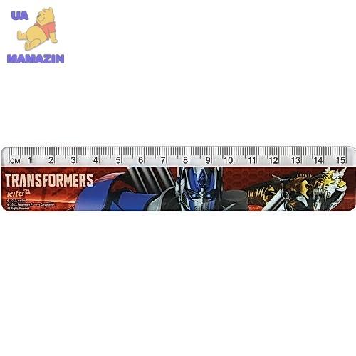 Линейка пластиковая Kite Transformers 15 см