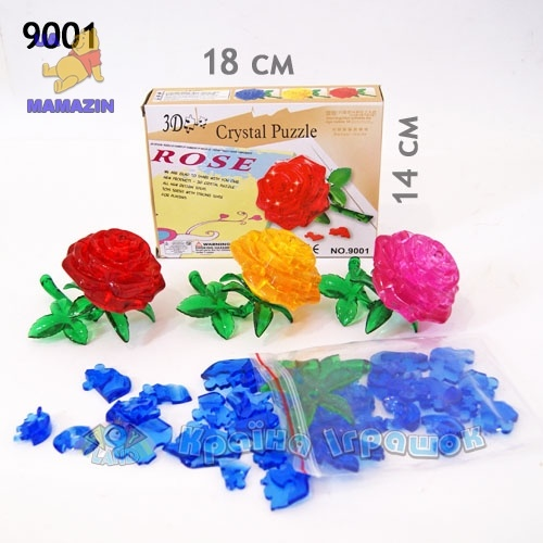 "Пазлы 3D кристалл ""Роза"""
