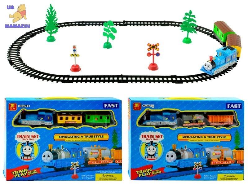 "Железная дорога ""Томас"" на батарейках, 2 вида"