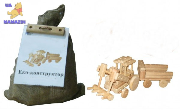 """Эко-конструктор """"Трактор"""", деревянный"""