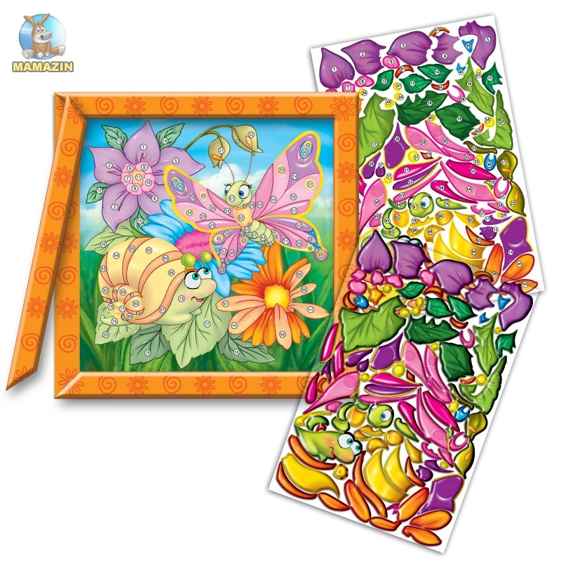 Набор «Кристалл картина» Бабочка и улитка