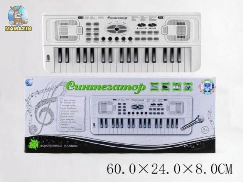 Синтезатор от сети, 37 клавиш, микрофон
