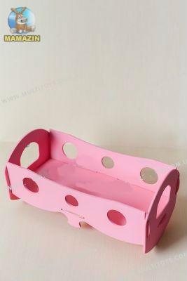Кроватка для кукол Розовая