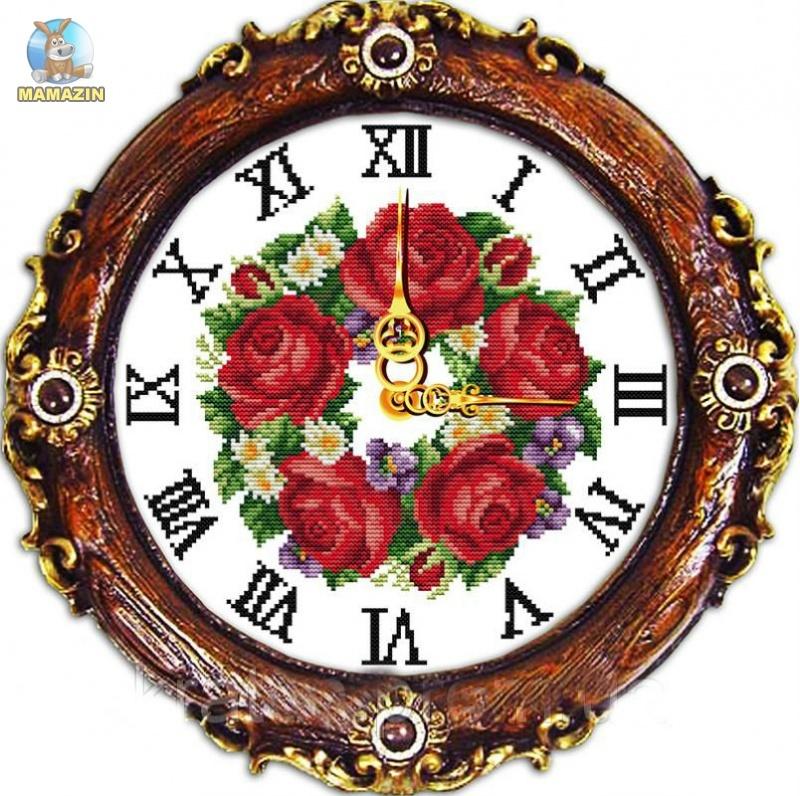 """Набор для вышивания """"Часы. Яркие цветы"""""""