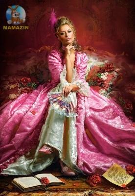 """Пазлы """"Дама в розовом"""""""