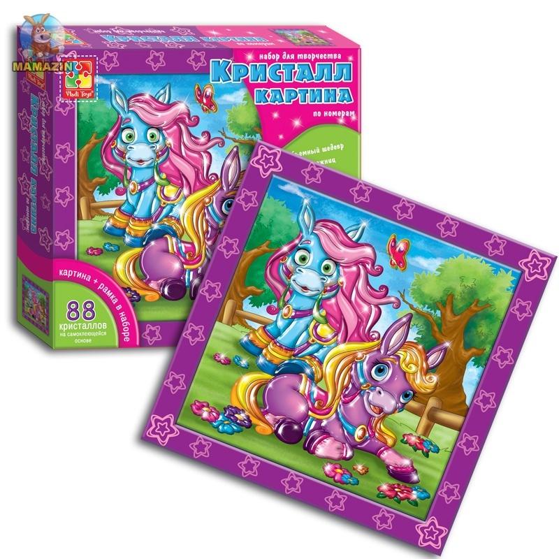 """Кристалл - картина по номерам """"Волшебные пони"""""""