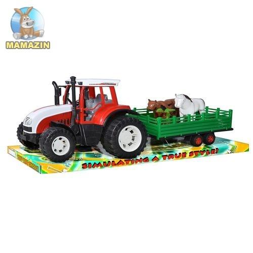 Трактор инерционный, с прицепом