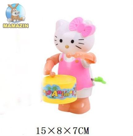Заводная игрушка с барабаном