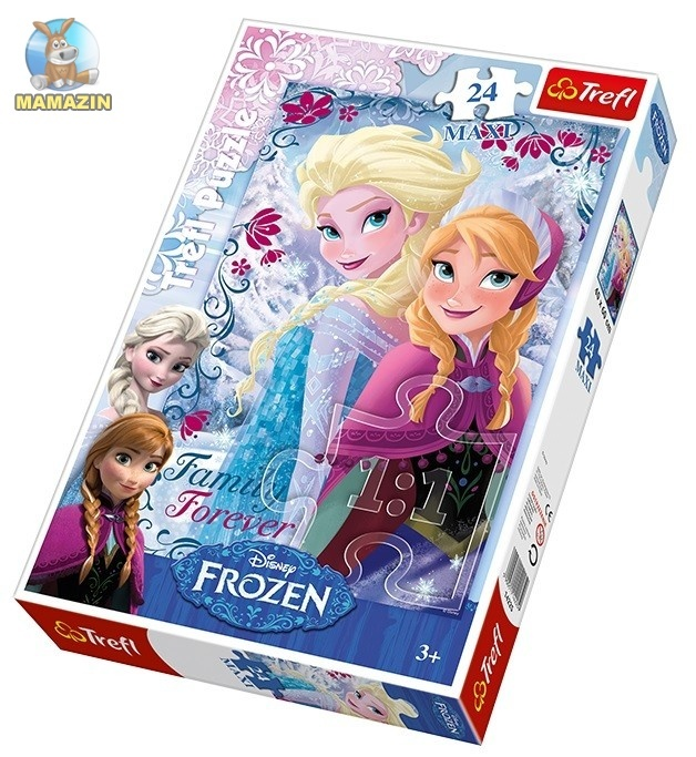 Пазлы Trefl, Disney, Frozen, Сестры из снежной страны, 24 детали