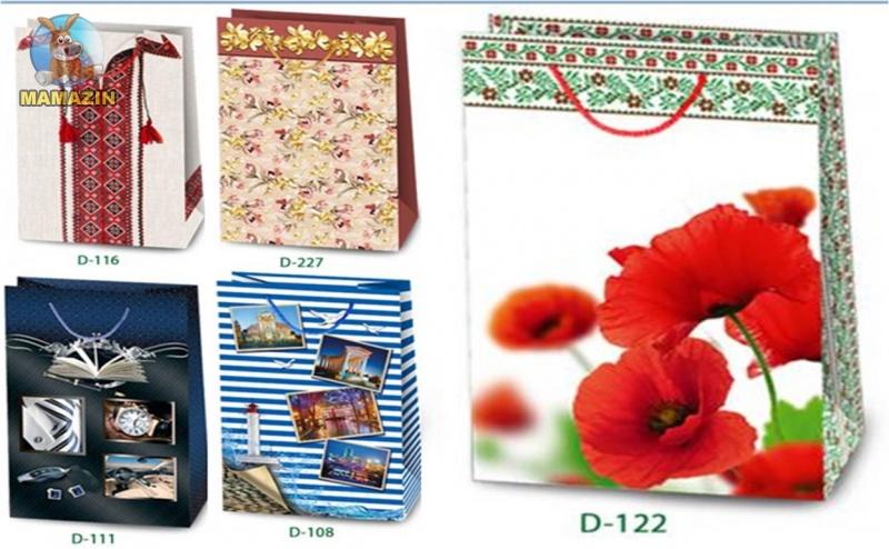 """Пакет подарочный, полноцвет, LL1, """"МИКС"""""""
